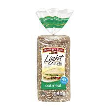 pepperidge farm light bread light style oatmeal bread pepperidge farm