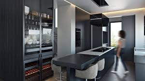 3d architectural interior design for kitchen project