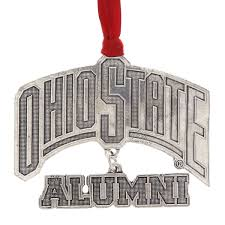 ohio state alumni christmas ornament wendell august