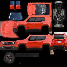orange jeep 2016 3d model jeep renegade 2016 4x4 cgtrader