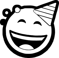 celebration circle face emoticons coloring page wecoloringpage