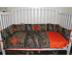 Camouflage Crib Bedding Sets Custom Made Crib Bedding For Hunters Who Like Mossy Oak And