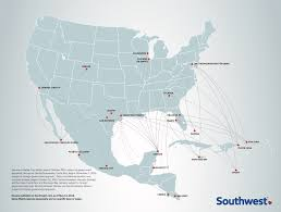 America Map San Francisco by Southwest Airlines Crosses The 100 Flight Milestone To Latin