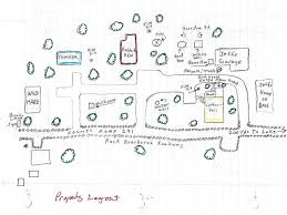 Property Line Map Hand Drawn Map Property Layout Bunny Lane Cabins