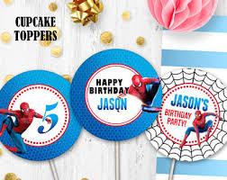 Spiderman Cupcakes Etsy