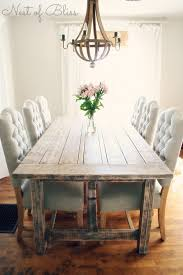 Rustic Farmhouse Dining Table And Chairs Rustic Dining Table With Tufted Wicker Emporium Dining Chairs