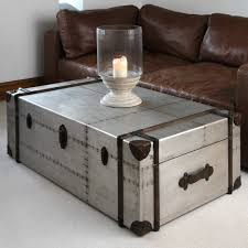 trunk style coffee table diy lighting fixture cinder block room