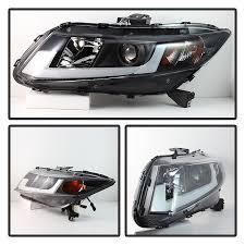 12 15 honda civic sedan 12 13 coupe led tube drl projector