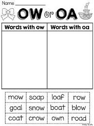 Oa Worksheets 23 Best Ow And Oa Sound Images On Teaching Ideas