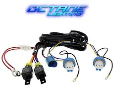 amazon com ijdmtoy complete set yellow lens fog lights foglamp cute h4 light wire pictures inspiration electrical circuit