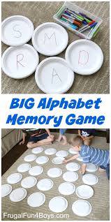 paper plate big alphabet memory game activities gaming and