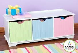 Storage Bench For Bedroom Amazon Com Kidkraft Nantucket Pastel Storage Bench Toys U0026 Games