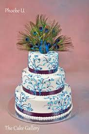 purple blue and white 4 tier square wedding cake wedding u003c3