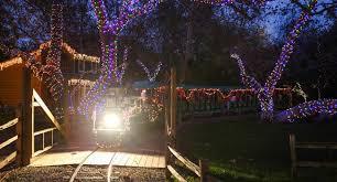 christmas lights train ride christmas train irvine park railroad