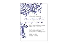 wedding invitations and response cards ornamental swirl wedding invitation and response card set from