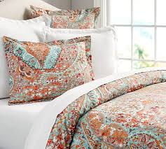 Black And White Paisley Duvet Cover Paloma Paisley Organic Duvet Cover U0026 Sham Pottery Barn