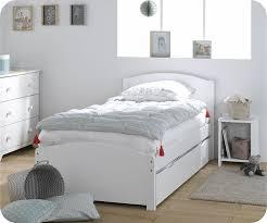 chambre fille et blanc lit gigogne enfant nature blanc 90x190 cm