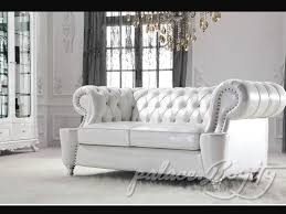White Leather Living Room Set Classic Italian White Leather Living Room Sofas Leather