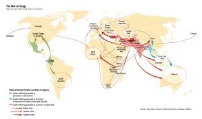 Ethiopia World Map by Bank Of America Merrill Lynch Heroin Trade Map Business Insider
