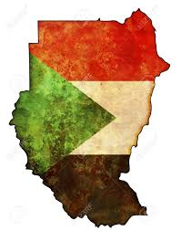 Map Of Sudan Old Map Of Sudan With Flag On Country Territory Stock Photo