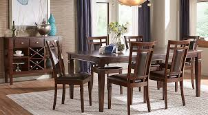 wood rectangular dining table riverdale cherry 5 pc rectangle dining room dining room sets dark wood