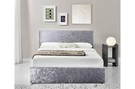 4ft Ottoman Bed With Mattress Birlea Berlin 4ft Small Fabric Ottoman Bed Crushed Velvet
