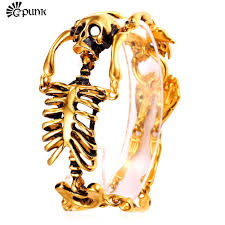 gold skull bracelet men images Buy skull bracelets skeleton bracelet mens never jpg