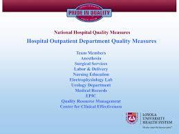 Labor And Delivery Nurse Description Ppt Hospital Outpatient Department Quality Measures Powerpoint