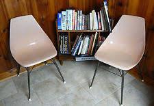 Mid Century Modern Plastic Chairs Scoop Chair Ebay