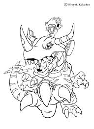 agumon friends coloring pages hellokids