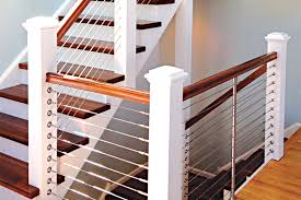 How To Build A Banister For Stairs Diy Cable Railing System Stainless Cable Railing