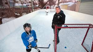 Hockey Rink In Backyard by Hockey At Home Fargo Dad Builds Backyard Rink For 6 Year Old Son