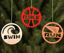 sweet triathlon ornaments swim bike run triathlon