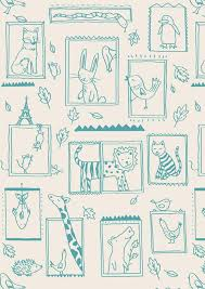 fanciful wallpaper by little cube remodelista