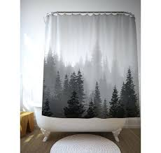 Black White Shower Curtain Tree Shower Curtains Teawing Co