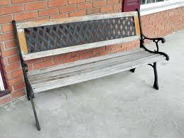 furniture antique veneered teak outdoor storage bench seat wood