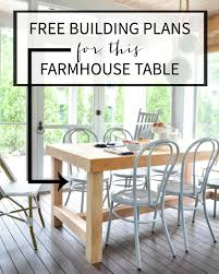 free dining room table plans diy chunky farmhouse table the chronicles of home