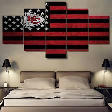 home decor stores kansas city kansas city chiefs flag modern home decor wall art picture best