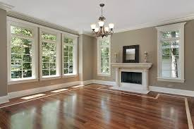 New Home Interior Design by Behr Castle Path And Dark Wood Flooring For The Dining