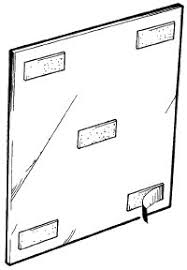 How To Hang A Wall Mirror How To Install Mirror Or Cork Wall Tiles How To Install Mirror