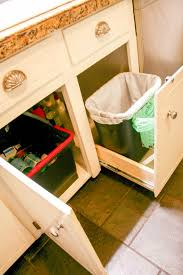 trash can attached to cabinet door how to build a pull out trash recycling and compost system care2