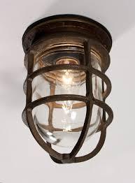 Industrial Light Fixtures Antique Industrial Cast Bronze Cage Light Fixture With Original