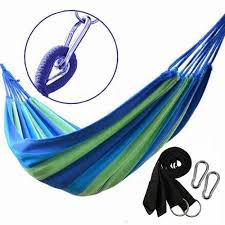 portable outdoor swing fabric camping beach hanging hammock canvas