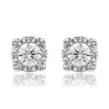 illusion earrings diamond diamonds illusion set earrings j nuevo