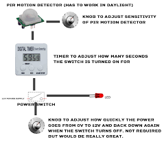 how to adjust motion sensor light switch pir motion detector with timer switch