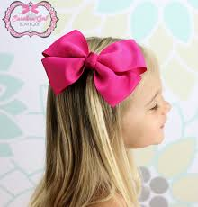 big bows for hair shocking pink hair bow xl hair bow big hair bow 7 00 via