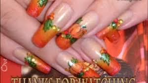 fall autumn u0026 thanksgiving nail art design tutorial video
