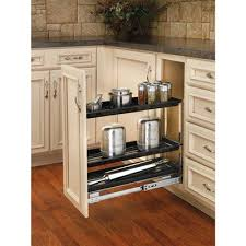 kitchen cabinet storage canada rev a shelf 548 8bc 5 chrome base organizer lowe s canada
