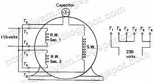 wiring diagram permanent split capacitor motor wiring diagram