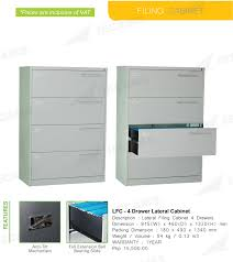 1 Drawer Lateral File Cabinet by Jecams Inc Lfc 4 Drawer Lateral Cabinet